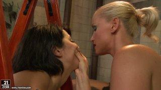 Kathia Nobili ties Adelaida and spank her pale skin ass hard