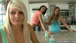 Tosh Locks is a willing victim for two horny young babes