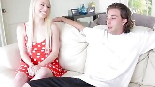 Cheeky blonde teen in perfect rimjob showing her greedy side cock hungry babe