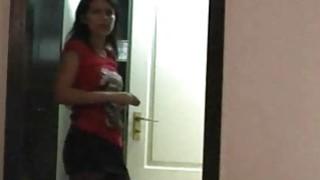 Funny striptease for my boyfriend in a hotel room