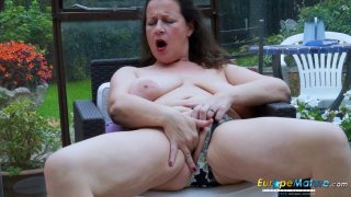 EuropeMaturE Busty Milf is Playing with Boobs