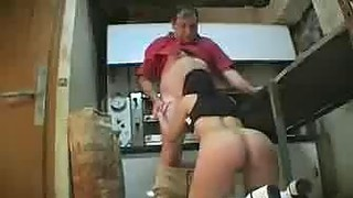 German Whore Fucked By A Fat Guy