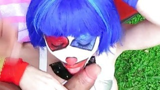 Slim clown Mikayla Mico fucked in public