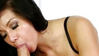 Big tits masseuse giving massage and a nice blowjob